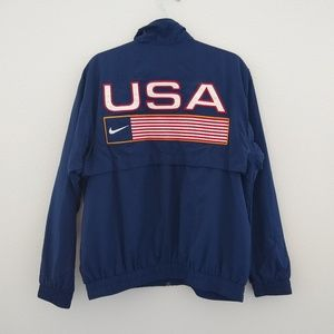 Vintage Nike USA flag mesh lined windbreaker
